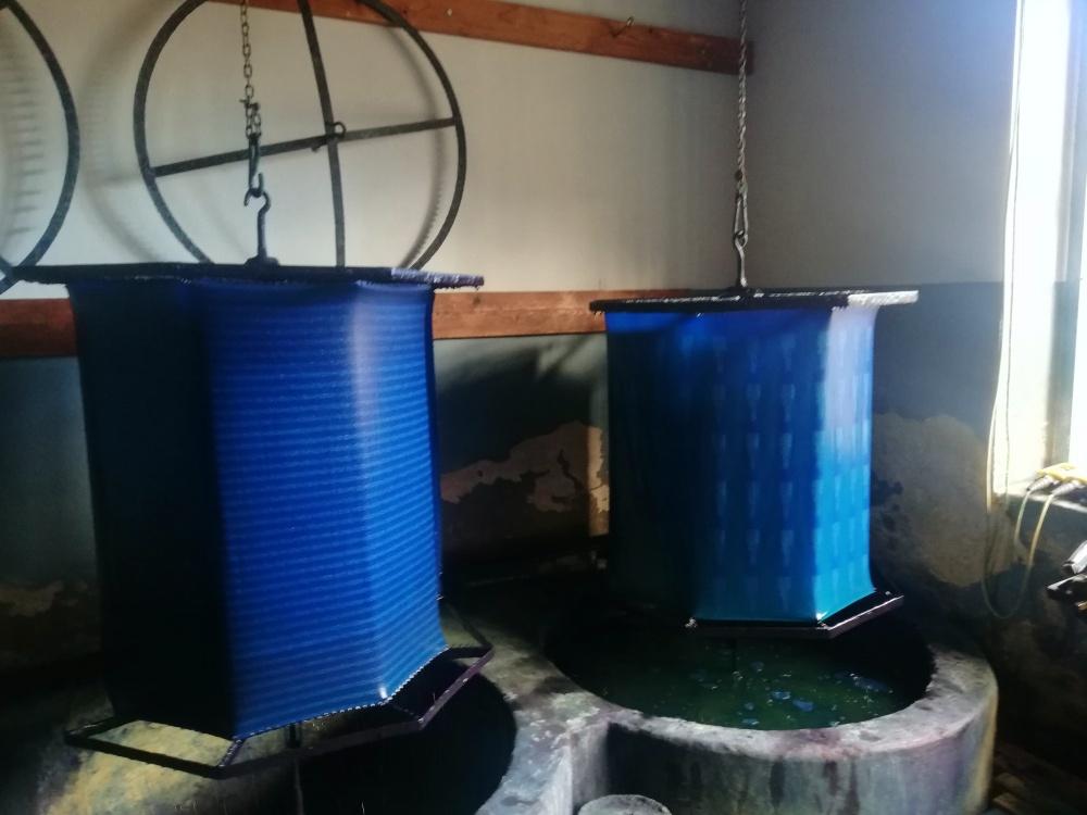 Blaudruck färben