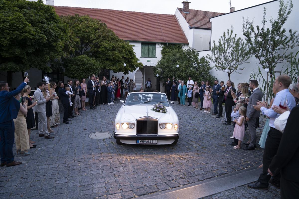 Hochzeit Abend Martinsschlössl Einzug